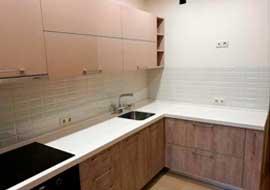 Фото Кухня бежевая