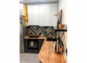 Фотография дизайнерская Кухня серая с матовыми фасадами