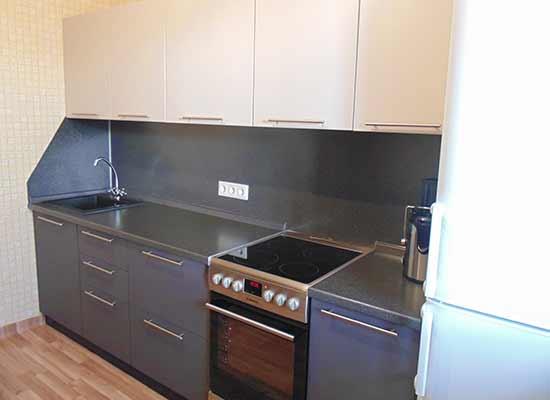 Фото Кухня матовая серо-белая